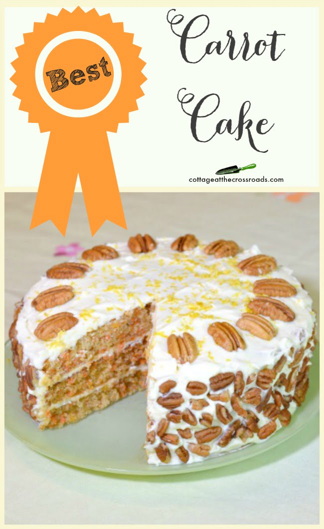 This is the best, no fail carrot cake recipe! I've made it many times and everyone says it's so good!