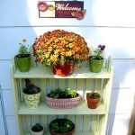 picket fence bookcase planter | Cottage at the Crossroads