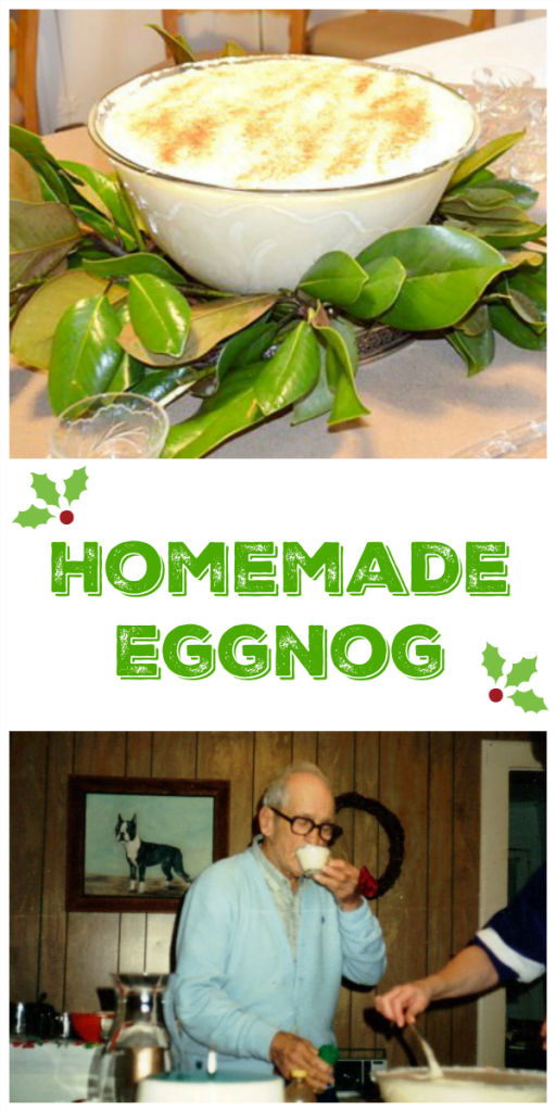 My fathers recipe for homemade eggnog- It's been part of our family's Christmas Eve celebrations now for over 50 years.  A great tradition that we continue every year.