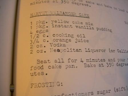 Harvey Walbanger Cake Recipe