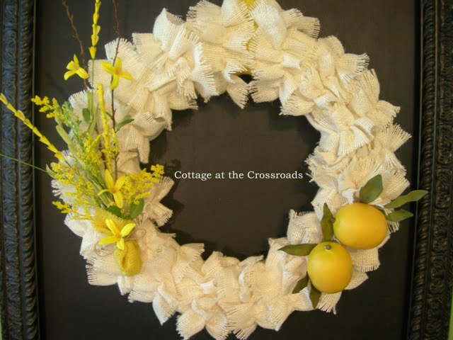 ruffled burlap wreath