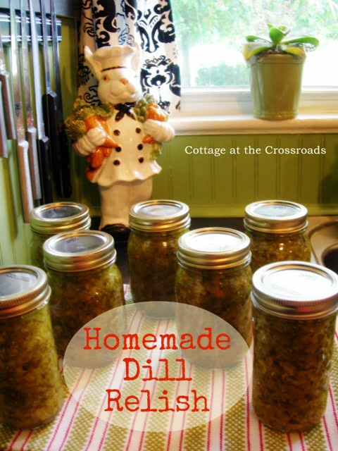 homemade dill relish | Cottage at the Crossroads