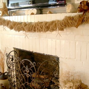 burlap mantel garland | Cottage at the Crossroads