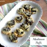 Delicious mushroom puffs appetizer