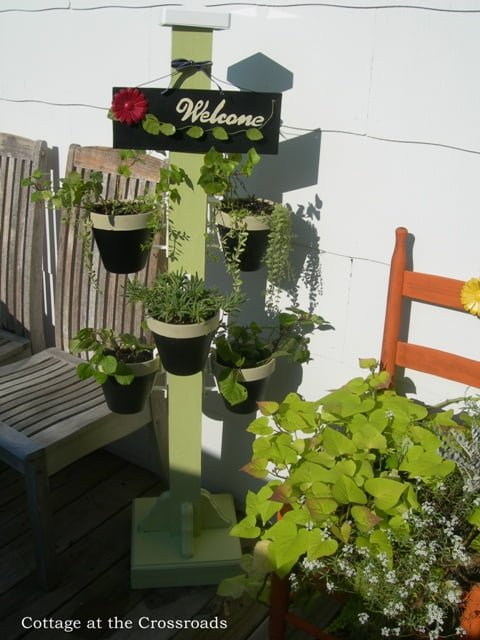 Diy Garden Plant Stand Cute Outside Party Pinterest