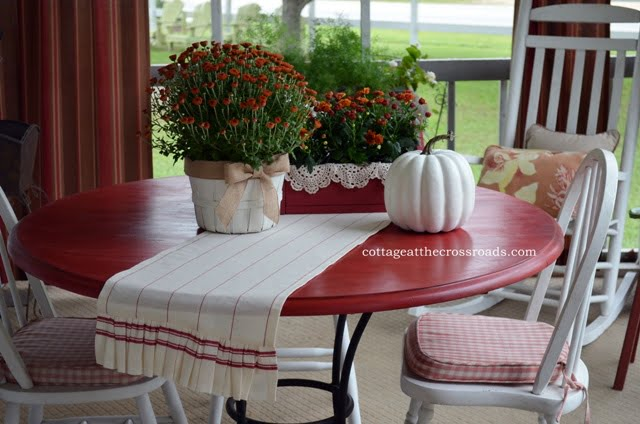 vignette on table with table runner