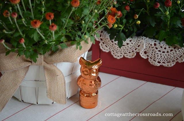 bronze owl added to vignette