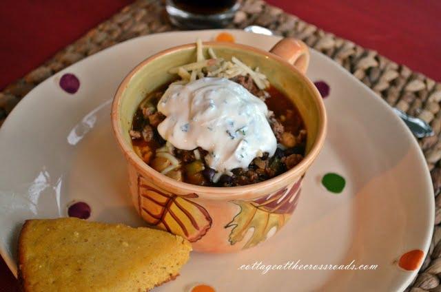bowl of bourbon chili