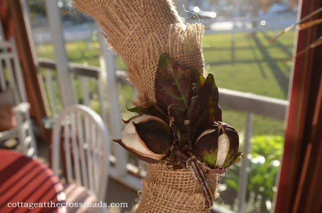 cotton bolls on wreath