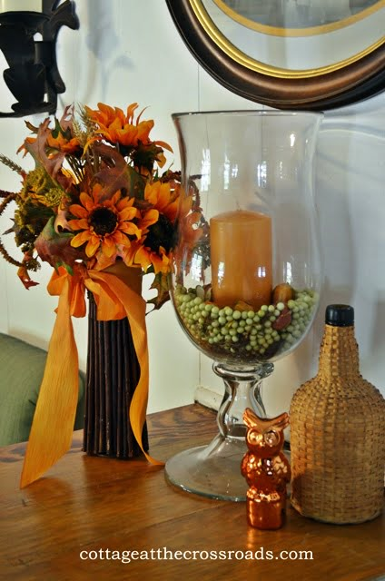 fall vignette on divider