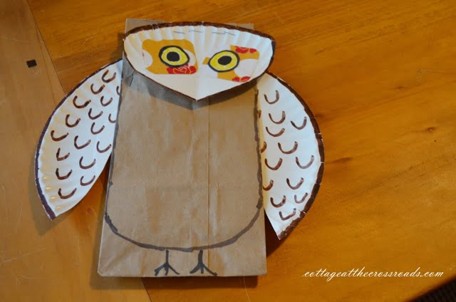 owl with wings and head attached