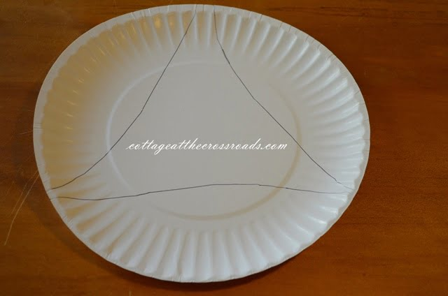wings traced on a paper plate