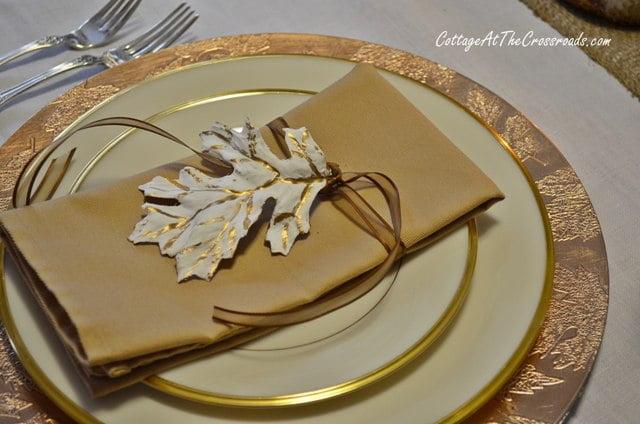 gold leaf on plaster leaf