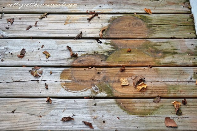dirty unstained deck