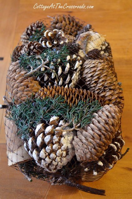 bag of pinecone potpourri