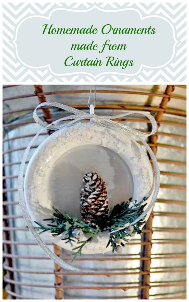 homemade ornaments made from wooden curtain rings