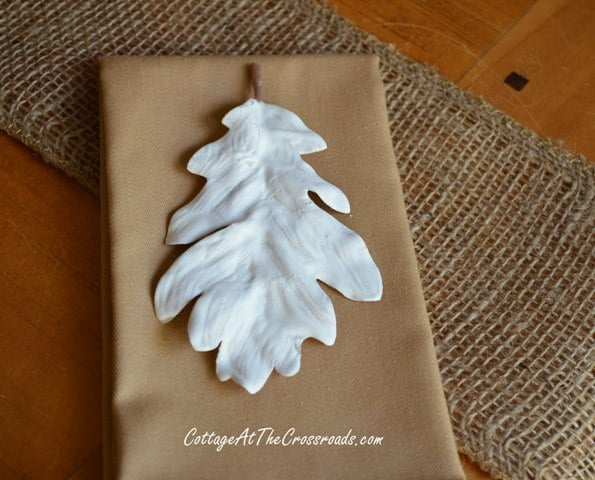 white plastered leaf