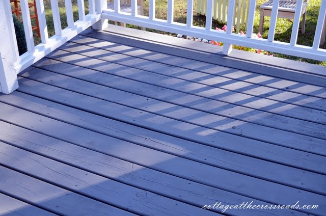 We Finally Stained Our Deck Cottage At The Crossroads