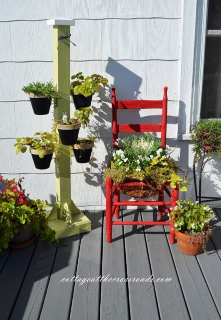 planter chair and pot holder stand