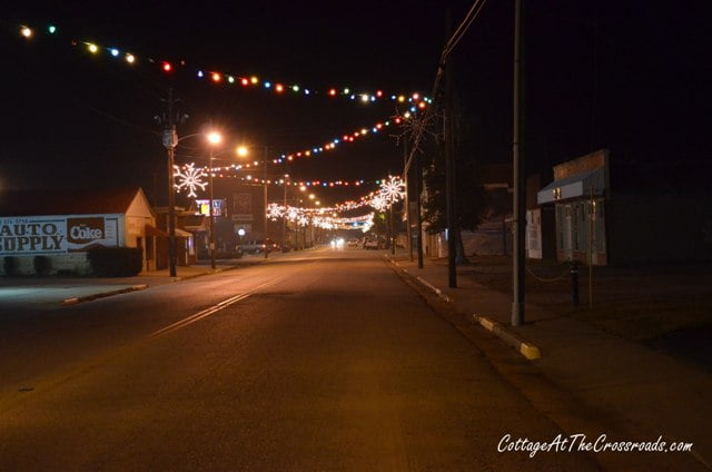 vintage christmas lights in lamar