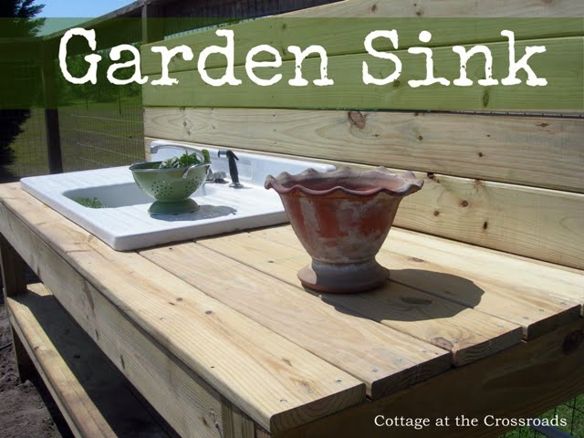 sink in the garden