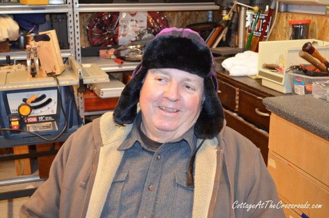 Leo in his Fargo hat