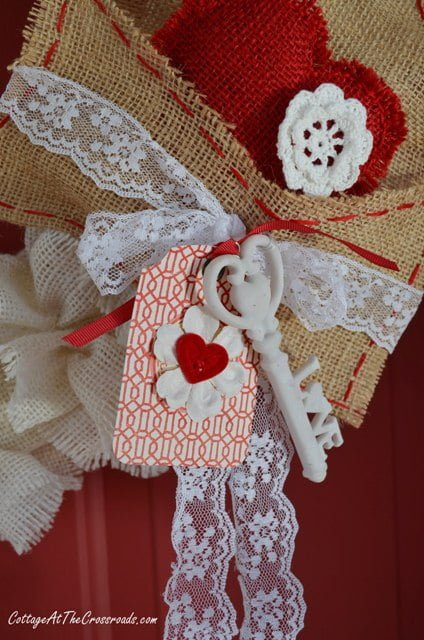 ruffled burlap Valentine's wreath