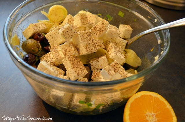 marinated olives and feta cheese appetizer 008