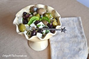 Marinated Olives and Feta Cheese Appetizer