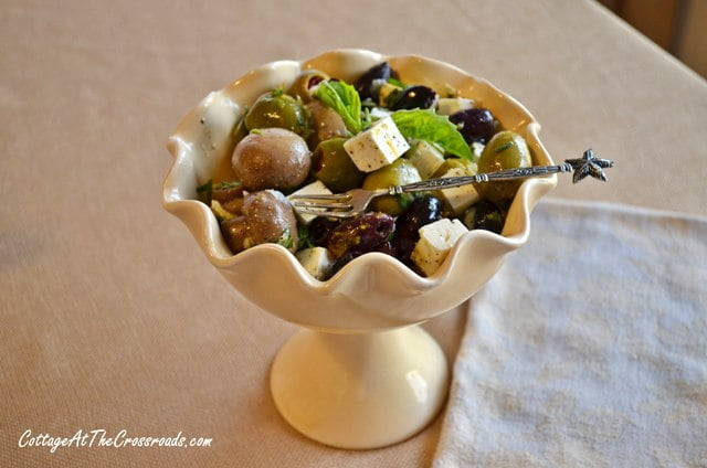 marinated olives and feta cheese appetizer 020