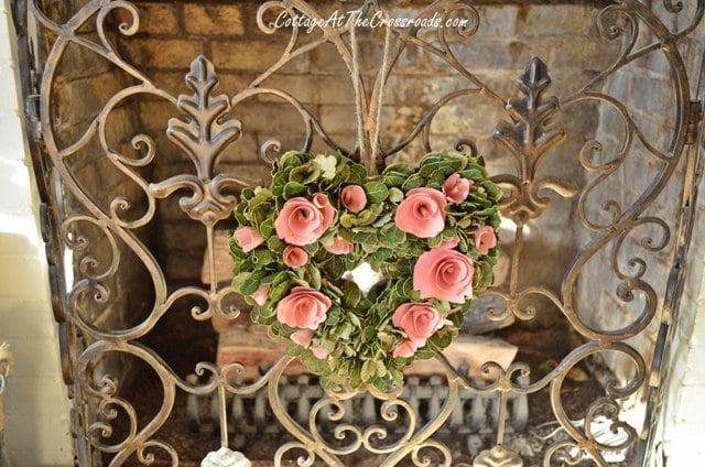 Valentine's Day mantel