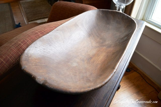 antique dough bowl