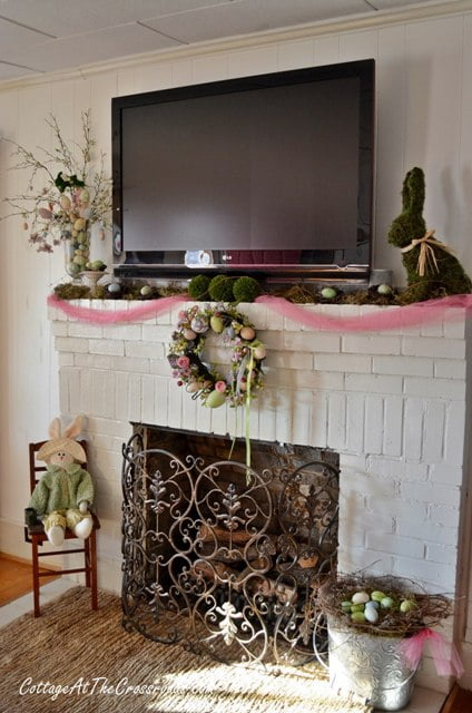 Spring Mantel 2013 - Cottage at the Crossroads
