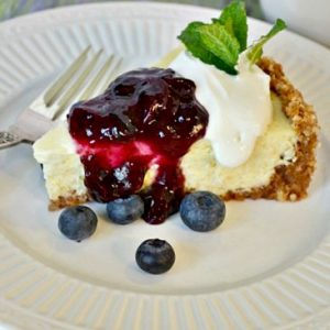 Easy Lemon Cheesecake with Blueberry Topping