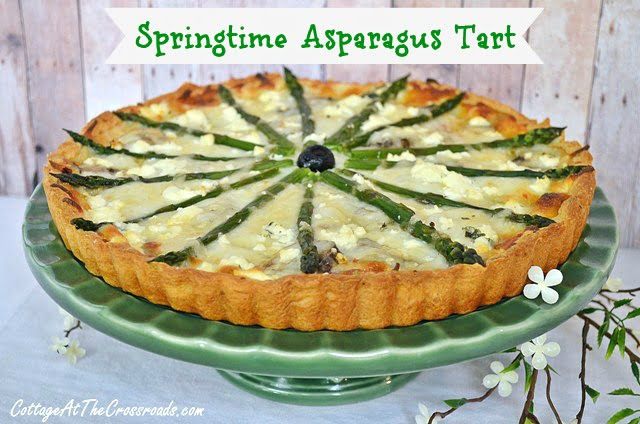 Springtime Asparagus Tart from Cottage at the Crossroads