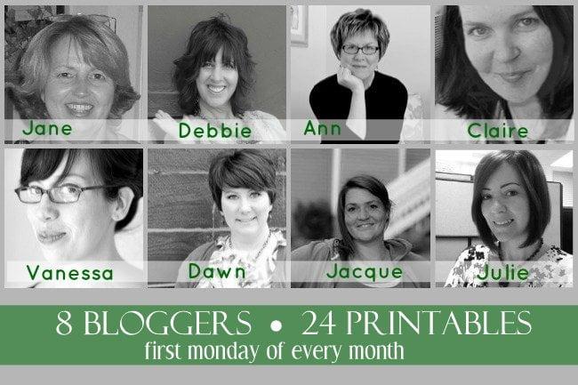 8 Bloggers~24 Printables