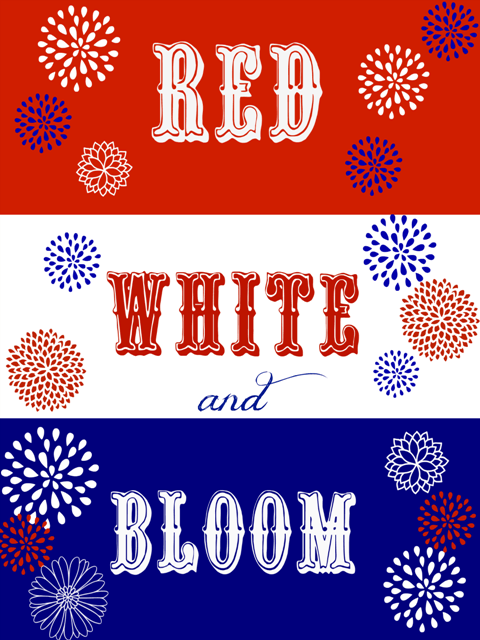 Red White Bloom Free Printable