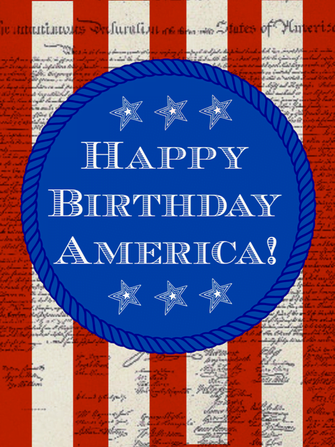 Happy Birthday America free printable