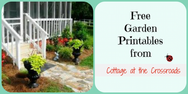 Free Garden Printables from Cottage at the Crossroads