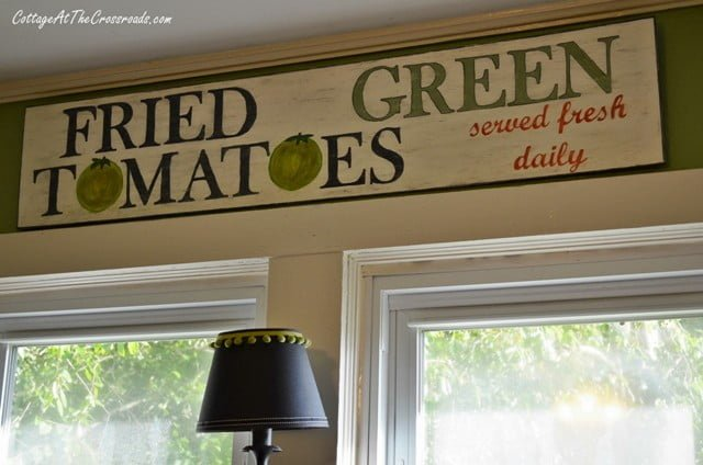 Fried Green Tomatoeswooden sign