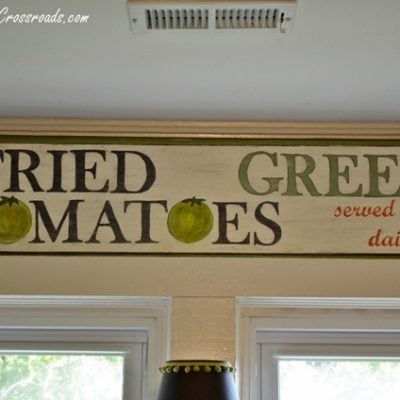 fried green tomatoes sign