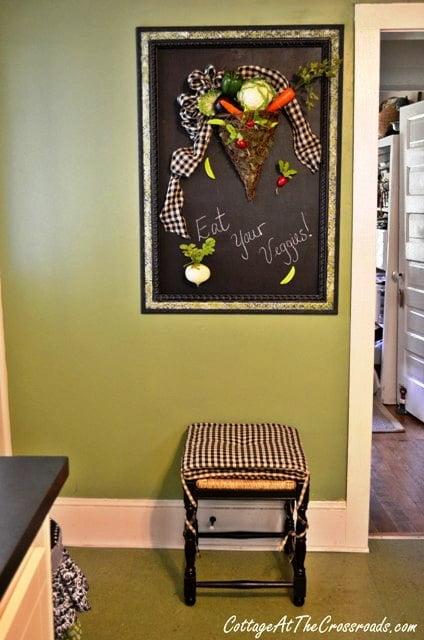 Eat Your Veggies Chalkboard Display