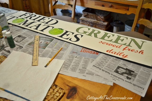 Fried Green Tomatoes wooden sign