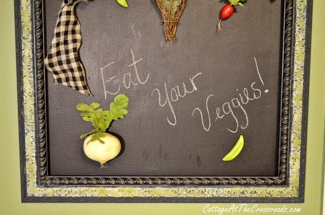 veggie chalkboard display