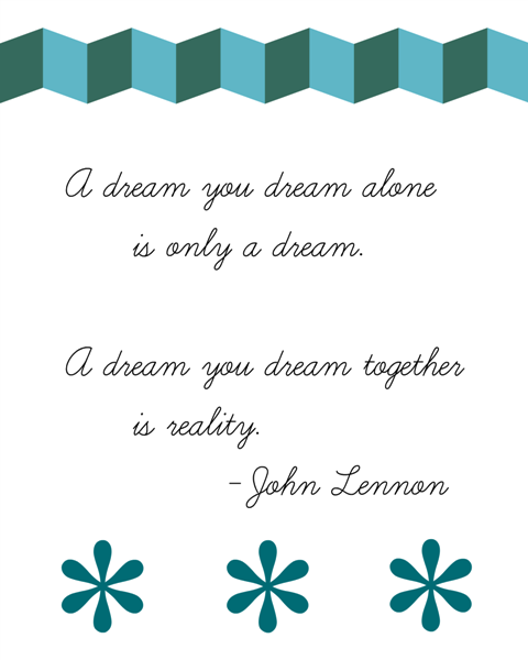 dream printable