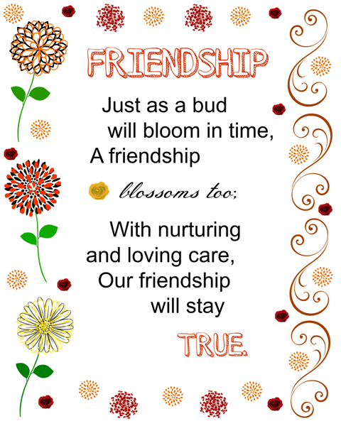printable about friendship