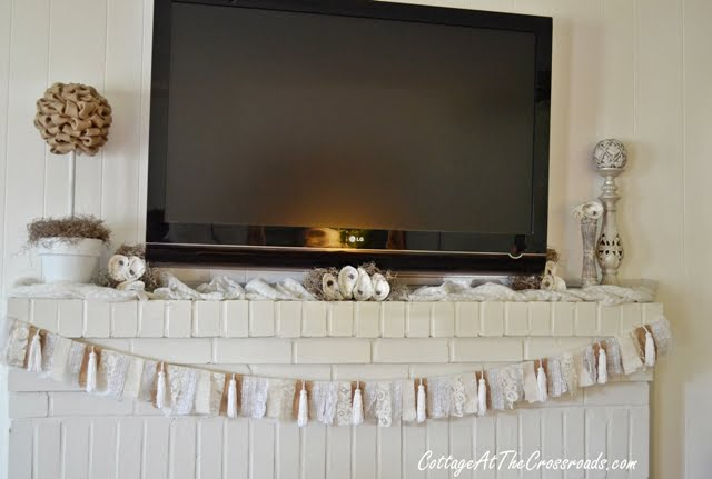 oyster shells used on a mantel
