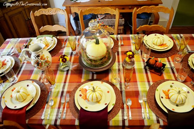 fall tablescape 2013-Autumn Welcome