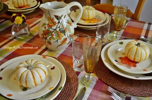 fall tablescape-Autumn Welcome