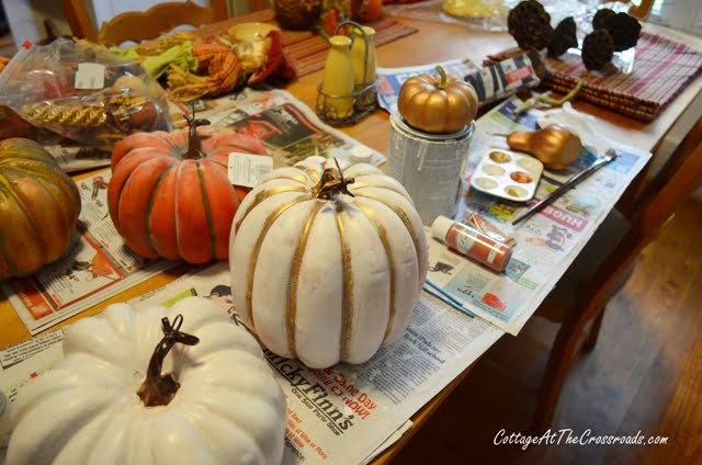 painting cheap plastic pumpkins